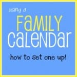 How to Set Up Your Family Calendar