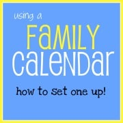 Using a family calendar- how to set one up