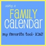 My Favorite Family Calendar: iCal