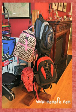 Backpack Rack designed by Steve1 Family Routines  What We Do After School