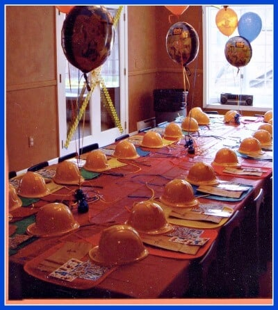 My first ever at home birthday party was this Bob the Builder party for my 3 year old son! This post is full of great ideas for a Bob the Builder birthday party- but boy- did I have a lot to learn!
