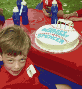 Baseball Cake 279x300 Great 6 Year Old Birthday Party Idea: A Baseball Party!