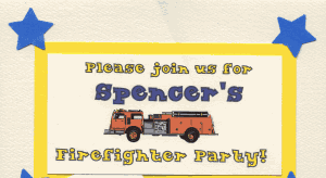 Firefighter Party Invite To 300x164 Great 3 Year Old Birthday Party Idea: A Firefighters Party!