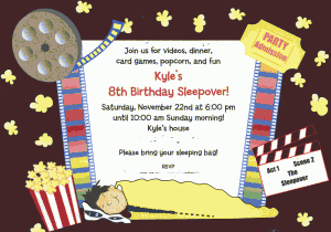 Sleepover Movie Night Invit 300x210 How to Have a Kids Sleepover Party!
