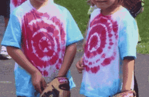 tie dye tees for Jack baseb 300x195 Great 6 Year Old Birthday Party Idea: A Baseball Party!