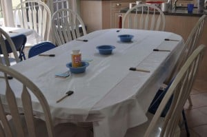 craft table set up 300x199 Great 7 Year Old Girl Birthday Party Idea: Tea and Craft Party!