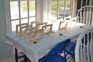 frame table set up 300x199 Great 7 Year Old Girl Birthday Party Idea: Tea and Craft Party!