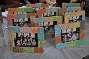 group of finished frames 300x199 Great 7 Year Old Girl Birthday Party Idea: Tea and Craft Party!