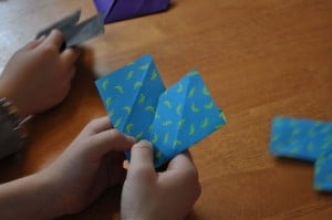 making the hearts 300x199 Great 7 Year Old Girl Birthday Party Idea: Tea and Craft Party!
