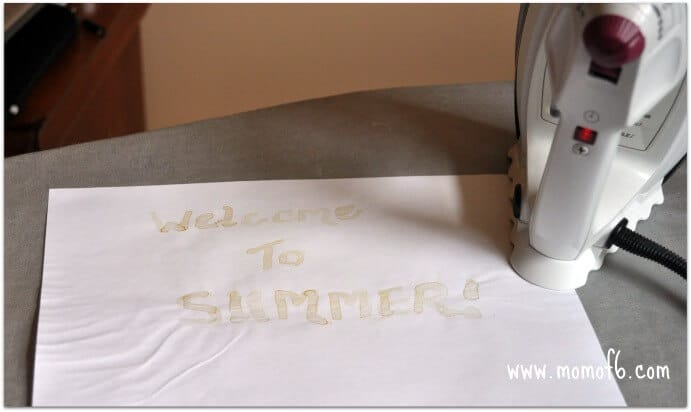 Momof6 Invisible Ink4 Summer Camp At Home Craft Idea  Notes Written With Invisible Ink