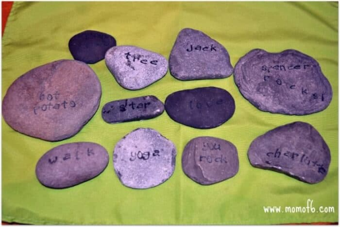 Momof6 Stamped Rocks4 Summer Crafts for Kids {Summer Camp at Home}