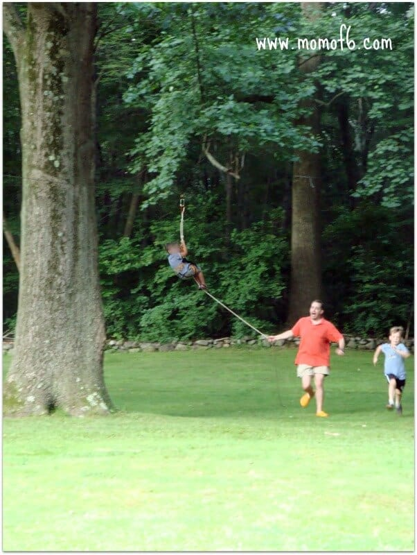 Momof6 Zipline A Great Thing To Have for Your Summer Camp At Home  A Zipline!