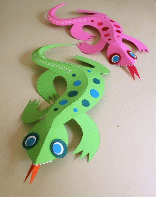 3D Paper Lizards Links to Love!
