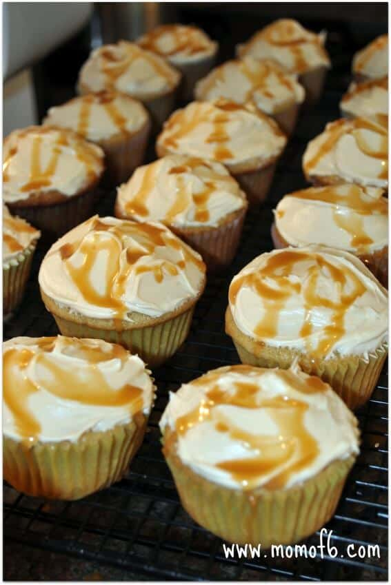 Momof6 Butterbeer Cupcakes1 Cooking with the Kids: Butterbeer!