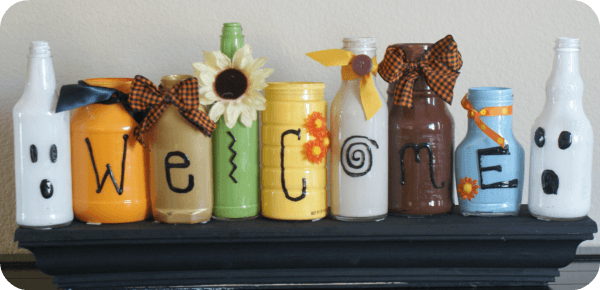 fall welcome jars 1 Links to Love: Cinnamon Pumpkin Bread and 2 Great Halloween Craft Ideas!