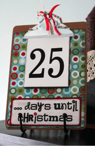 Christmas Countdown Clipboard Eighteen25 197x300 Links to Love: A Christmas Edition