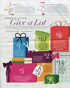 Oprah Dec 2011 Spend a Little Give a Lot Page 1 238x300 Confessions of a Giving Back Under Achiever...