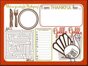 Thanksgiving Activity Mat Whatever DeeDee Wants 300x224 Links to Love: A Thanksgiving Edition... and a call to join the iVillage Get Organized for the Holidays Challenge!
