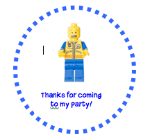 Lego party favor tags A Lego Birthday Party!
