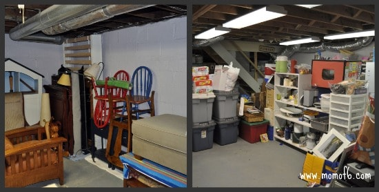 Big Basement Project Phase 2 A The Declutter Your Life Challenge: Working Towards An Organized Basement!