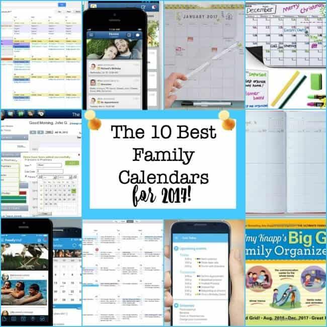 The 10 Best Family Calendars for 2017!