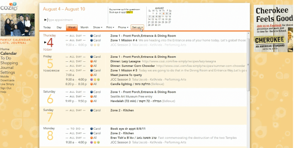 Cozi calendar screen shot The 6 Best Family Calendars!