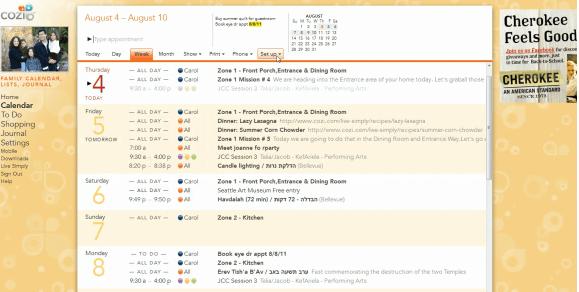 Cozi calendar screen shot The 6 Best Family Calendars!