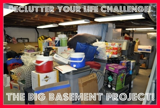 Declutter Your Life Challenge The Big Basement Project Before Picture Declutter your Life: The Big Basement Challenge... and REVEAL!