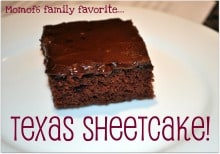 Momof 6 Family favorite Texas Sheetcake Badge Texas Sheetcake  Our Familys Favorite Chocolate Cake!