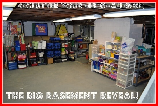 Momof6 Big Basement Project Final the big reveal Declutter your Life: The Big Basement Challenge... and REVEAL!