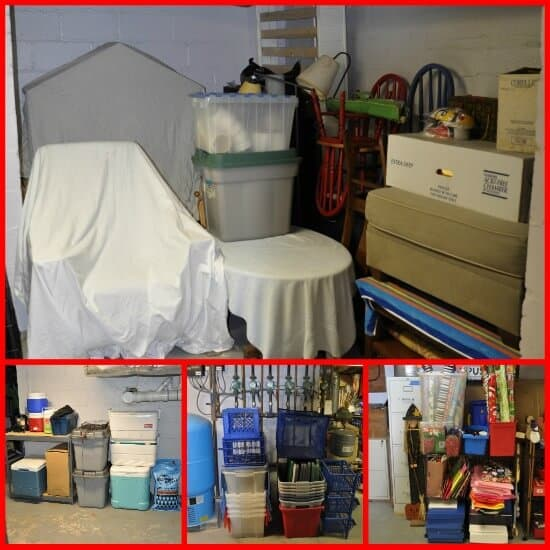 furniute and storage Declutter your Life: The Big Basement Challenge... and REVEAL!