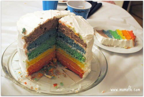 BD Party Rainbow Cake 8 Year Old Girls Birthday Party Idea: Ponies and Puppies!