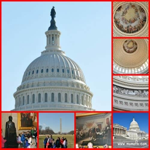 Capitol Collage Spring Break Family Vacation Idea: Washington DC with Kids