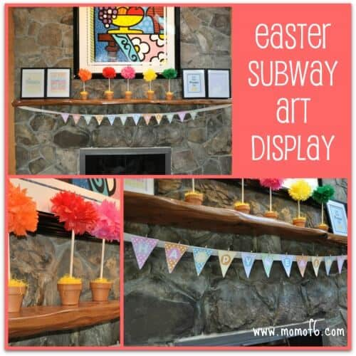 A great collection of free Easter subway art printables!