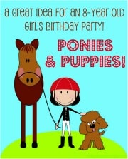Ponies and Puppies Badge Great 9 Year Old Girls Birthday Party Idea: A Spa Party!