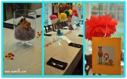 Puppy and Pony Party Table Decorations 8 Year Old Girls Birthday Party Idea: Ponies and Puppies!