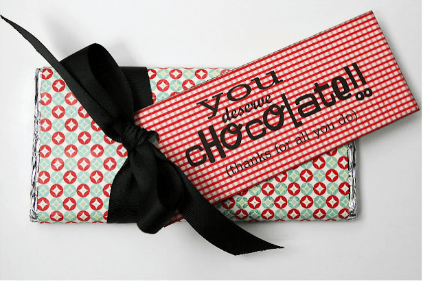 Teacher Appreciation Chocolate Bar Gift Links to Love: Teacher Appreciation Week & Two Restaurant Recipes