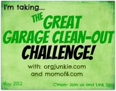 The Great Garage Clean Out Challenge Button The Great Garage Clean Out Challenge!
