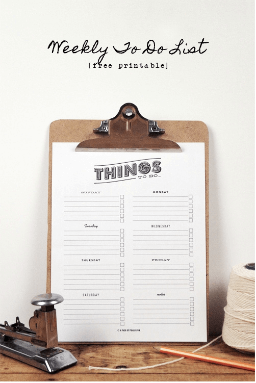 To Do List Printable Links to Love: Teacher Appreciation Week & Two Restaurant Recipes