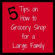 5 Tips on How to Grocery Shop for a Large Family Get Your Life Organized Boot Camp {Week 4}  Menu Planning