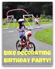 Bike Decorating Party badge Great 9 Year Old Girls Birthday Party Idea: A Spa Party!