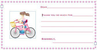 Bike Party Thank You Cards Great Idea for a 6 Year Old Birthday Party: A Bike Decorating Party!