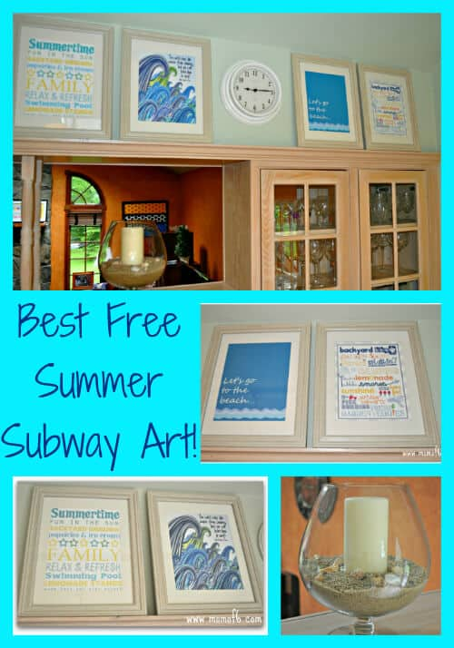 Free Summer Subway Art Kitchen Collage The 10 Best Free Summer Subway Art Printables!