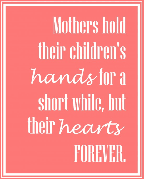 Mothers Day hands and Hearts Printable Links to Love: Great Ideas to Celebrate Mothers Day!