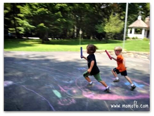 Olympic relay race Great 6 Year Old Birthday Party Idea: An Olympics Party!