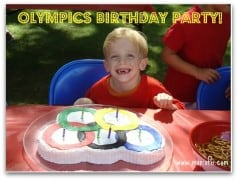 Olympics Birthday Party