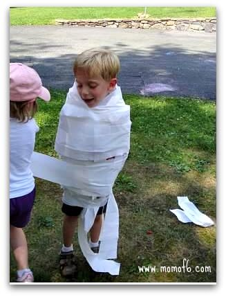 Olympics Party Mummy Wrap game Great 6 Year Old Birthday Party Idea: An Olympics Party!