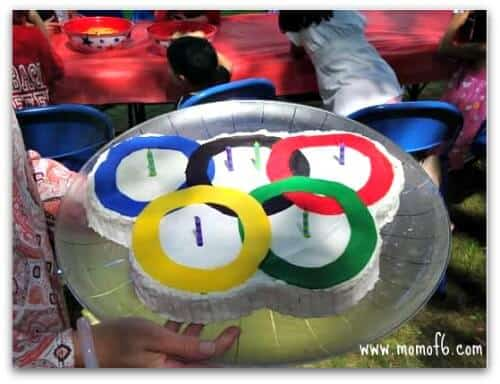 Olympics cake Great 6 Year Old Birthday Party Idea: An Olympics Party!