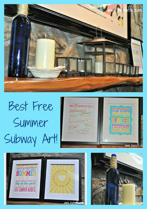 Summer Subway Art Family Room The 10 Best Free Summer Subway Art Printables!