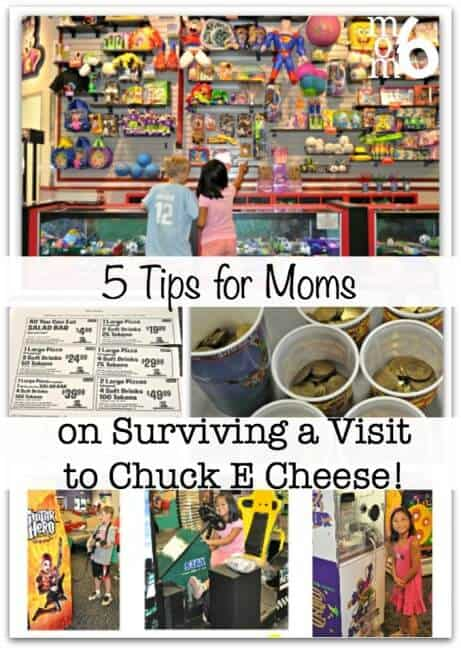 Chuck E. Cheese can be a fun place to visit.... for the kids! But for Moms.... it can be a bit of a challenge. If you decide to treat your kiddos to an afternoon at this local house-of-mouse, and you'll be glad that I shared these 5 Tips for Moms on Surviving a Visit to Chuck E. Cheese!